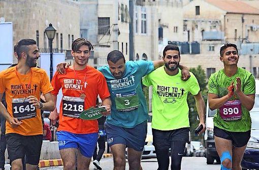 Fit für den Marathon durch Bethlehem