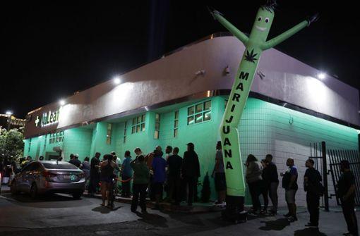 Legaler Verkauf von Cannabis ist in manchen Ländern, wie hier im US-Bundesstaat Nevada,  schon möglich. In Deutschland wird eine kontrollierte Abgabe in Apotheken diskutiert. Foto: AP