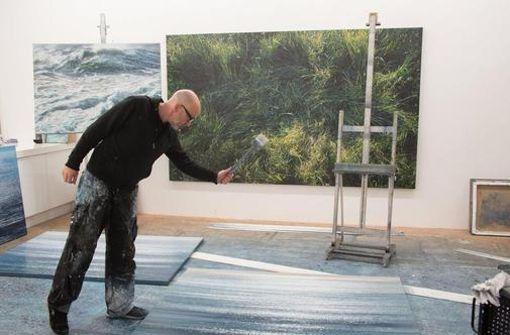 Jochen Hein in seinem Hamburger Atelier Foto: mkdw