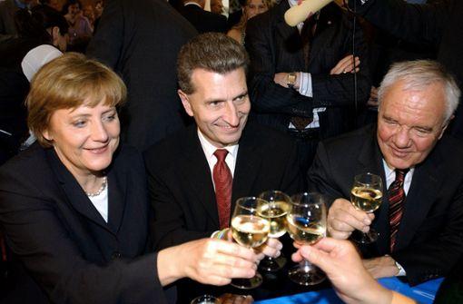 Merkel und Seehofer bei Stallwächterparty