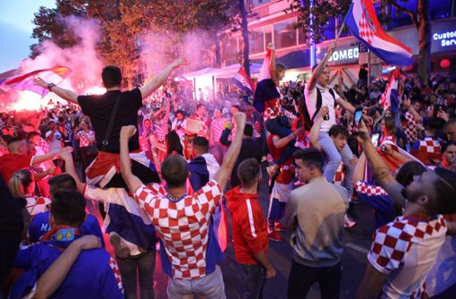Aggressive Kroatien-Fans verletzen Polizisten