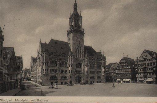 Blick auf das alte Stuttgarter Rathaus und den Marktplatz Foto: StN
