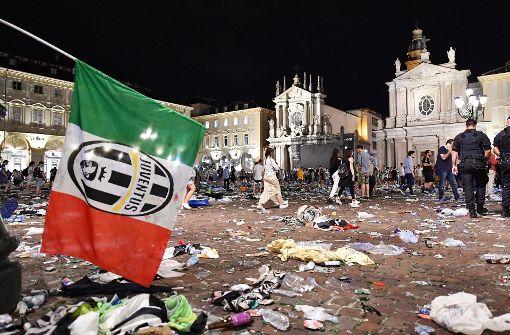 Nach der Explosion eines Feuerwerkskörpers kam es in Turin zu der Massenpanik. Foto: dpa