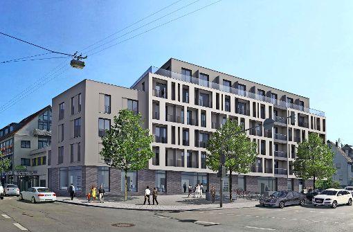 An der Lamm-Kreuzung entstehen 103 Wohnungen