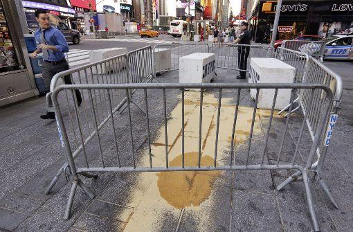 Am Times Square in New York ereignete sich die Amokfahrt. Foto: AP