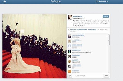 Promis trauern auf Twitter um Mode-Ikone
