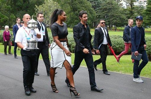 Serena Williams feiert ihren Triumph