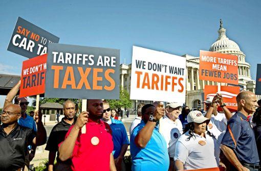 Proteste  in den USA gegen Zölle verhallen