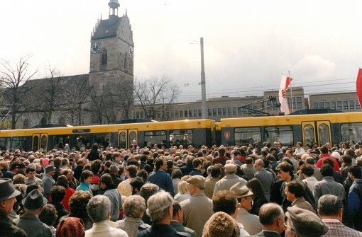 1986 fuhr die erste Stadtbahn ein