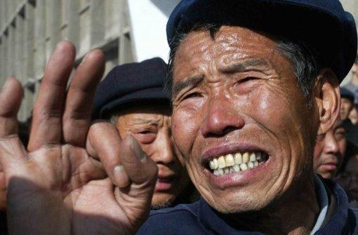Die Arbeitsbedigungen in Chinas Bergwerken sorgen immer wieder für Proteste. Foto: AP