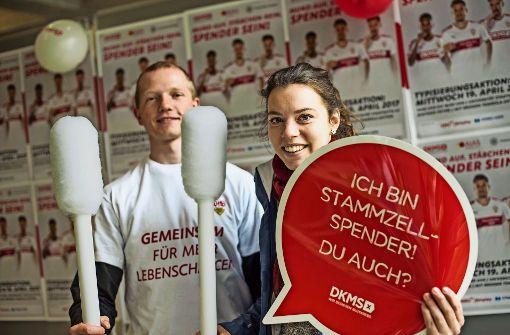 Uni und VfB gemeinsam gegen Blutkrebs