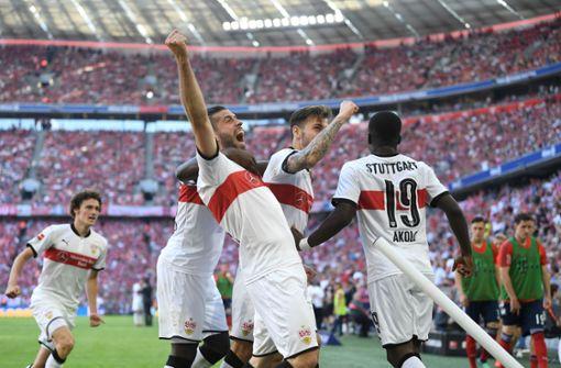 Freude bei den VfB-Stars: Endlich ist wieder Zeit für den Sommerurlaub. Foto: dpa