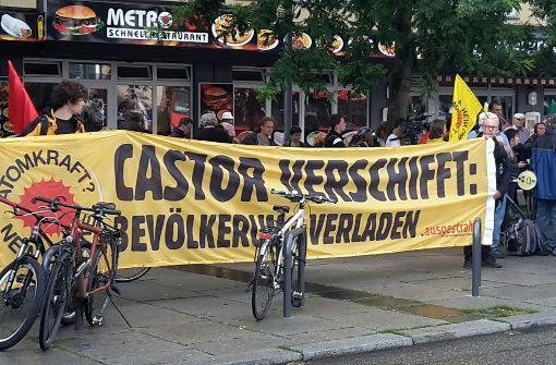 Atomkraftgegner protestieren in Heilbronn