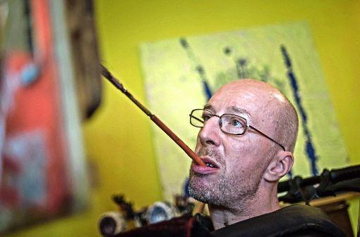 künstler mit behinderung der zungenmaler aus stuttgart stuttgart