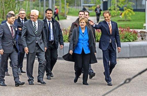Die Merkel-Raute in Malmsheim
