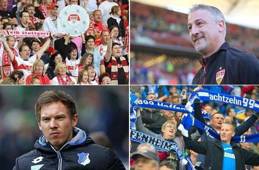 Auch wenn dem Duell der beiden Nachbarn der Derby-Charakter fehlt, freuen sich Trainer und Fans auf ein packendes Aufeinandertreffen am Samstag. Foto: dpa/Getty/Collage