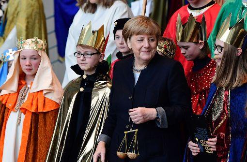 Merkel empfängt Sternsinger in Berlin