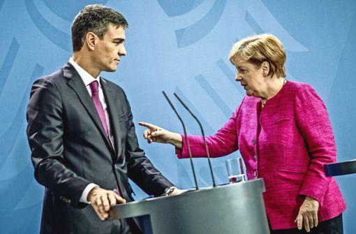Kanzlerin Merkel besucht den spanischen Ministerpräsidenten