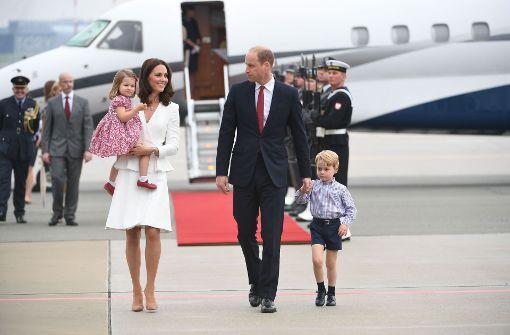 Sorgten für Entzücken: Herzogin Kate und Prinz William mit ihren Kindern Charlotte und George. Foto: AFP