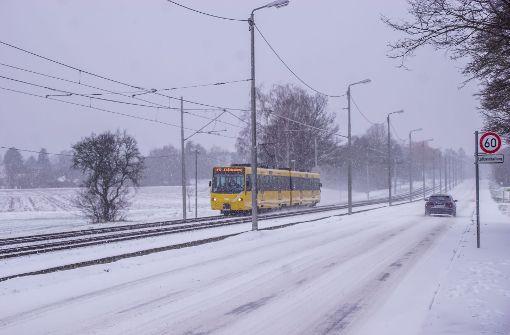 So weiß ist der Winter in Stuttgart
