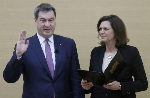 Markus Söder erneut zum Ministerpräsidenten gewählt
