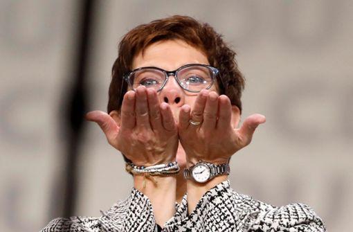Kramp-Karrenbauer ist die neue Bundesvorsitzende der CDU. Foto: AFP