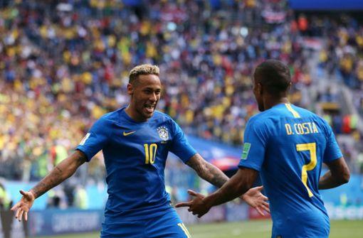 Brasilien feiert späten Sieg gegen Costa Rica
