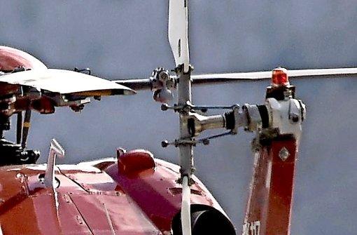 Der Heckrotor des Hubschraubers verletzte den Mann tödlich Foto: 7aktuell.de/Eyb