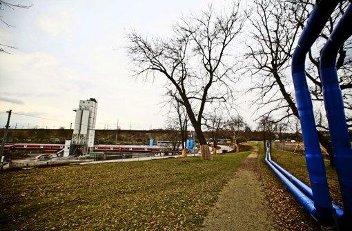 Auf diesem Streifen am Rosensteinparks will die Bahn eine Straße bauen. Foto: Peter Petsch