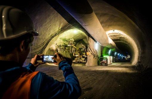 Ein Tunnelstück unter dem Neckar in Stuttgart-Wangen ist fertig. Foto: Lichtgut/Max Kovalenko