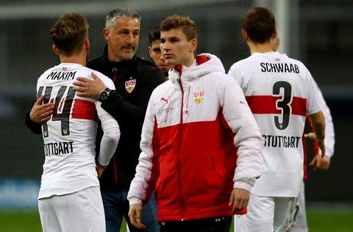 VfB Stuttgart im Aufwind: Unter Kramny ist die Mannschaft wie ausgewechselt Foto: Bongarts