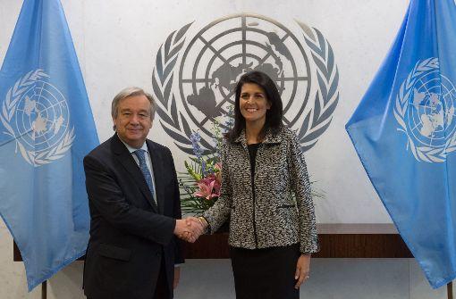 US-Botschafterin der UN droht Gegnern mit Namensliste