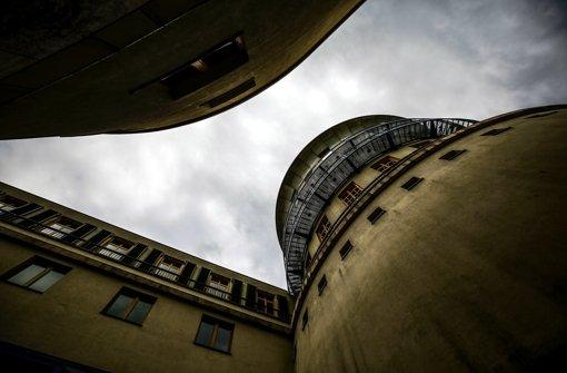 Der Turm der Musikhochschule Stuttgart. Foto: Leif Piechowski