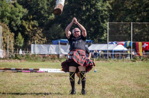 In Stuttgart haben die Highland-Games-Weltmeisterschaften begonnen. Foto: dpa