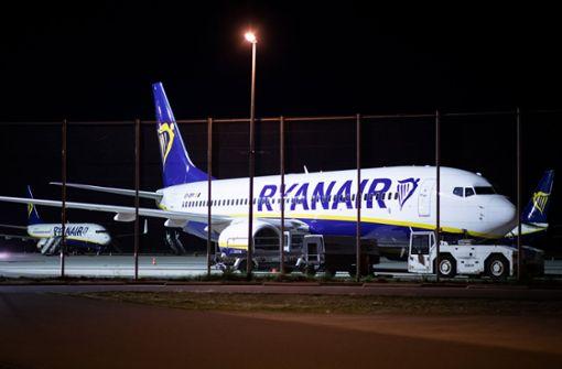 Stillstand bei Ryanair: Die Piloten und Flugbegleiter der Billigflug-Airline in Deutschland haben ihre Arbeit niedergelegt. Foto: dpa