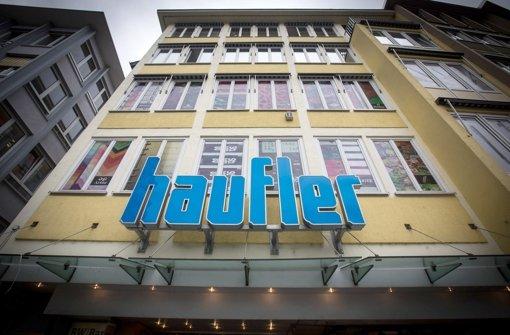 Haufler am Marktplatz gibt sein Geschäft Anfang 2015 auf. Seit 1895 war Haufler mit nur einer Unterbrechung am Marktplatz. Foto: Achim Zweygarth