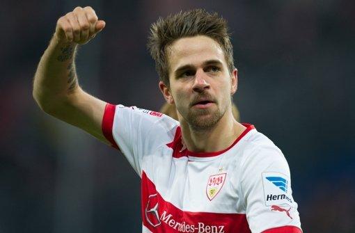 Die Erleichterung nach dem 1:0 in Hoffenheim war riesig – nicht nur für den VfB Stuttgart, sondern auch für Martin Harnik. Der Stürmer beendete seine Torflaute und hat mit den Roten jetzt noch Großes vor. Foto: dpa