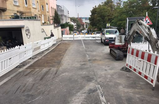 Straße nach Wasserrohrbruch für drei Wochen gesperrt