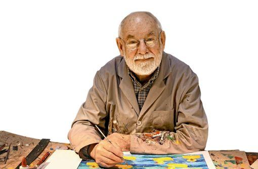So sieht es heute aus, wenn der inzwischen 89-jährige Eric Carle in seinem Studio in den USA arbeitet.  Foto: Eric Carle Studio