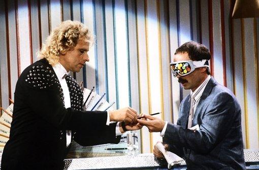 Reingelegt: Thomas Gottschalk im Jahr 1988. Foto: dpa