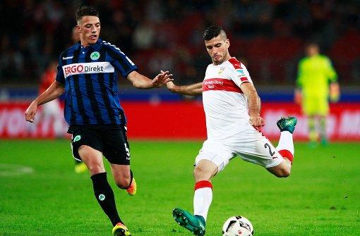 Emiliano Insúa: In das Spiel des Linksverteidigers schleichen sich immer wieder Nachlässigkeiten – wie vor dem 0:4. Nach vorne stets bemüht. (5) Foto: Bongarts