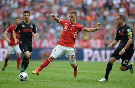 Kimmich im Dress des FC Bayern München, wo er inzwischen spielt... Foto: dpa