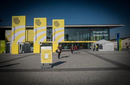 Auf dem Gelände der Landesmesse Stuttgart soll im Mai die Militär- und Waffentechnikmesse ITEC stattfinden. Foto: Lichtgut/Achim Zweygarth