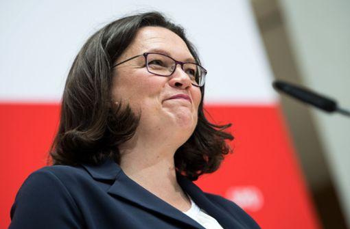 "Nahles ärgert sich über ""Pipi-Lösung"""