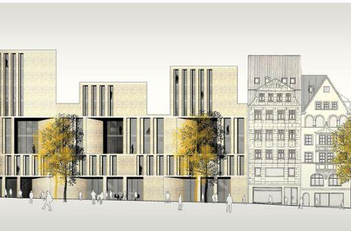 Neues Gebäude an der Eberhardstraße