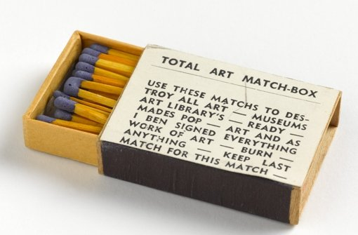 Provokation als Prinzip: Ben Vautiers Total Art Match-Box, 1965. Klicken Sie sich durch die Fotostrecke. Foto: Staatsgalerie Stuttgart