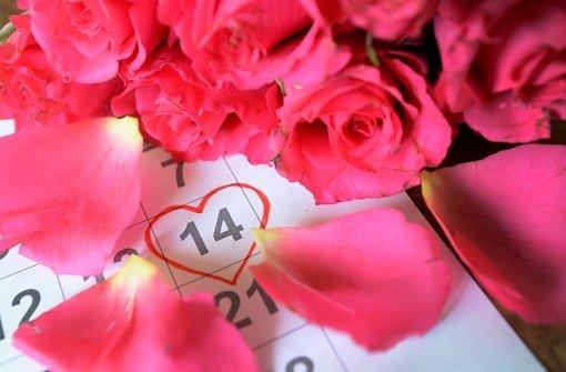 Wie jedes Jahr: am 14. Februar findet der Valentinstag statt. Foto: dpa