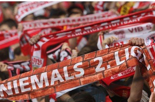 Die VfB-Fans sind Foto: Baumann