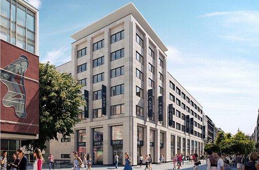 So soll das zukünftige Karstadt-Gebäude von hinten bzw von vorne aussehen.  Foto: Signa