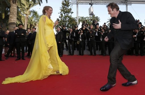Uma und Quentin feiern in Cannes